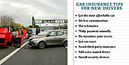 Top car insurance tips for new drivers