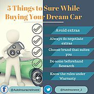 5 Things to Remember before buying new Car | Auto Insurance Invest