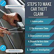 5 Steps to Claim Car Insurance After Your Car Is Stolen | Auto Insurance Invest