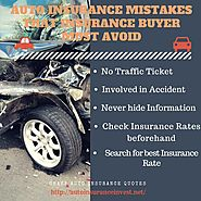 5 Common Auto Insurance Mistakes to avoid | Auto Insurance Invest