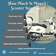 How Much Is Moped / Scooter Insurance? | Auto Insurance Invest