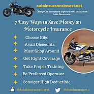 7 Easy Ways to Save Money on Motorcycle Insurance | Auto Insurance Invest