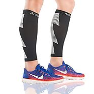 Compression Calf Sleeves to Improve Circulation and Recovery while Running Cycling & Travel