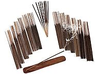 SENSARI INCENSE STICKS & BURNER GIFT SET - 120 Sticks, 12 Scent Assortment - Nag Champa, Sandalwood, Patchouli, Sage,...