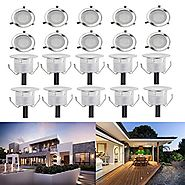 Low Voltage LED Deck Light Kit Waterproof Outdoor Garden Patio Stairs Landscape Decor Lamp LED In-ground Lighting Pac...