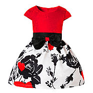 Buy Brand New Party Wear Lovely Black Roses Girl Dress | BabyCouture