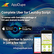 Uber for laundry | On Demand Dry Cleaning Service App | APPDUPE