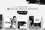 Black & White Social Media Designs by annabalashova on Envato Elements