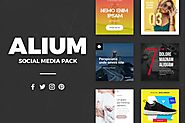 ALIUM - Social Media Pack by laaqiq on Envato Elements
