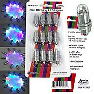 BlueDot Trading Color Changing Waterproof LED Lights, Mini, Multicolor, Set of 12