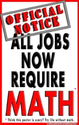 (b47) Poster #138- Motivational Math Poster for Students