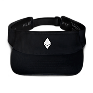 Black Ethereum Embroidered Visor
