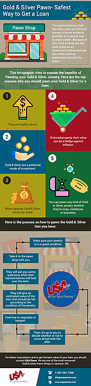 Get Loan Against Your Gold Silver at Pawn Shop in Jackson MS