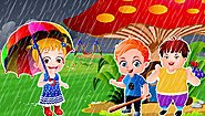Nursery Rhymes Song Rain Rain Go Away With lyrics and Video