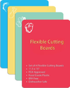 Flexible Cutting Board - Best Anti Microbial Large 11.5 X 15 Inch 4 Piece Mat Set - Microban Plastic Color Coded Thin...