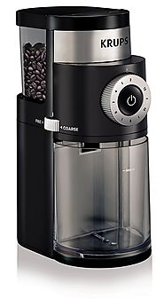 KRUPS Professional Electric Coffee Burr Grinder with Grind Size and Cup Selection