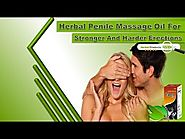 Herbal Penile Massage Oil for Stronger and Harder Erections