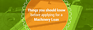 Things you should know before applying for a Machinery Loan - TAB Capital Ltd.