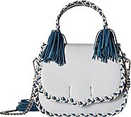 Rebecca Minkoff Chase Medium Saddle Bag, Ice Blue Multi