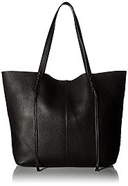 Rebecca Minkoff Medium Unlined Tote with Whipstich, Black