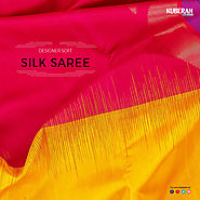 Yellow Designer soft Silk saree