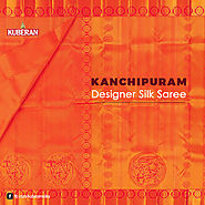 Orange Kanchipuram Designer Silk Saree!