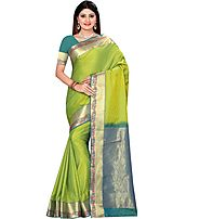 Kuberan Green Art Silk Saree Bangalore