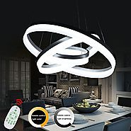 Modern Led Chandelier Dimmable Pendant Lamp Lighting Fixture Luxury Kitchen Acrylic Dining Restaurant Support Dimming...