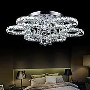 LightInTheBox Crystal LED Flush Mount Chrome Chandelier Ceiling Light Lamp Light Source=White