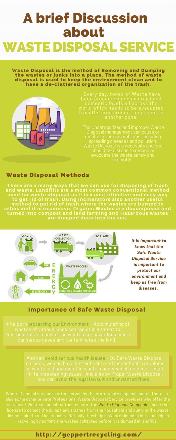 A Brief Discussion about Waste Disposal Service
