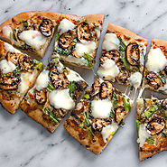 Crimini Mushroom Flatbread Pizza Recipe with Grilled Green Onions and Tuscan Herbs | What's Cooking