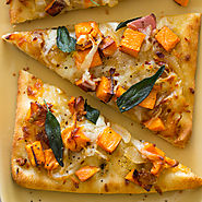 Roasted Sweet Potato and Caramelized Onion Flatbread