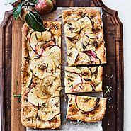 Apple Focaccia with Gruy and Rosemary