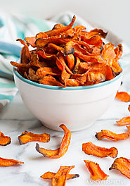 Healthy Baked Carrot Chips