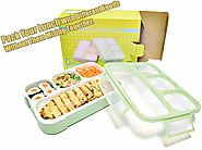 Leakproof Bento Lunch Box Set With 4 Compartments