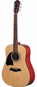 Oscar Schmidt OG2 Left-Handed Dreadnought Acoustic Guitar - Natural