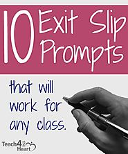 10 Exit Slip Prompts that Will Work for Any Class | Teach 4 the Heart