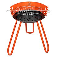 Tesler Portable Barbeque Grill With Stand, (BBQ), Orange | 11 Types Of Barbeque Grills & Tandoors