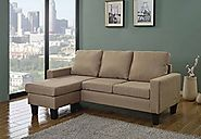 Home Life Canvas Linen Cloth Modern Contemporary Upholstered Quality Sectional Left or Right Adjustable Sectional Sof...