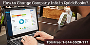 How to Change Company Info in QuickBooks?