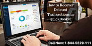 How to Recover Deleted Transactions in QuickBooks?