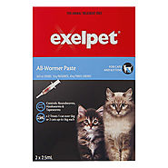 Buy Exelpet Allwormer Wormers Treatment for Cat Supplies - PetCareClub.com
