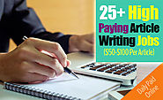 How to Get Paid to Write Articles Online: 25 Sites Pay $50 Per Article