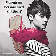 Monogram Personalised Silk Scarf