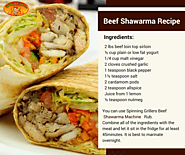Homemade Beef Shawarma Recipe by Spinning Grillers