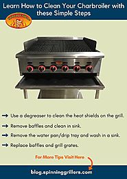 Simple steps to clean your charbroiler