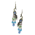 Smoke Peacock Pair of Earrings with multicolored stones. SMER523
