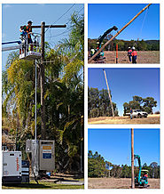 Power poles Brisbane : Property Poles, Underground & Overhead Power