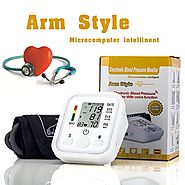 Full Automatic Electronic Blood Pressure Monitor Sphygmomanometer Arm Type