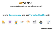 Use Apsense marketing niche social network for Cash and Web Traffic